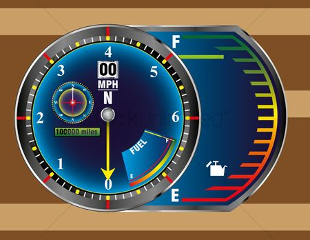 Car speedometer : Speedometer gauge