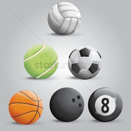 Footballs : Sports ball set