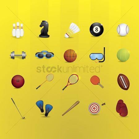 Indoor : Sports equipment set