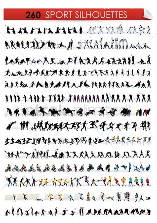 Athletes : Sports silhouette