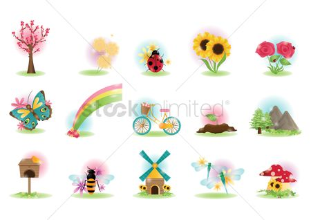 Cycle : Spring icons