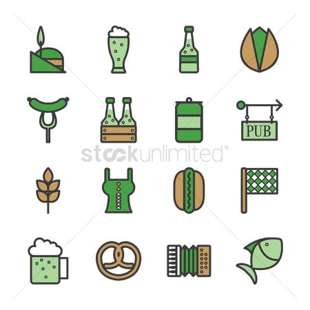 Beer mug : St patrick s day icons