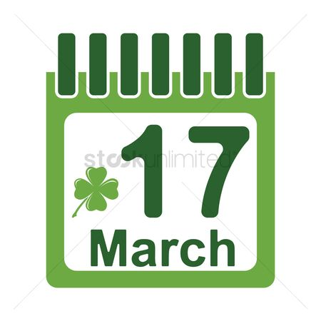 17 : St patricks day calendar