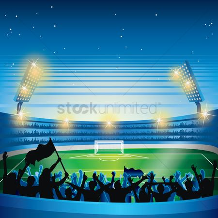 Soccer : Stadium and crowds