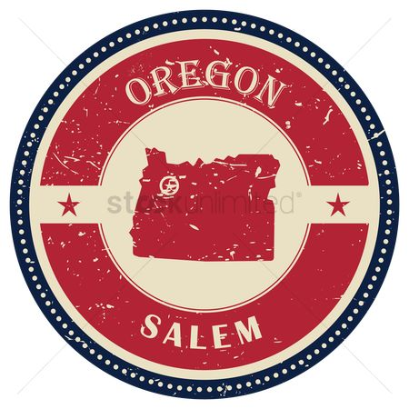 Oregon : Stamp of oregon state