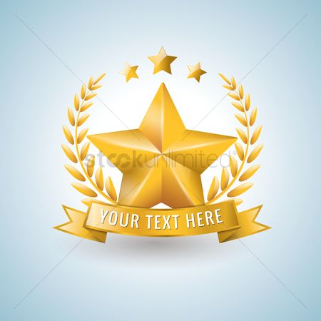 Laurel : Star shaped award
