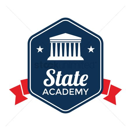 Authority : State academy badge design