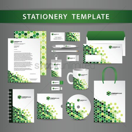 Geometrics : Stationery template