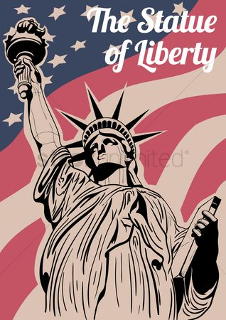 United states : Statue of liberty poster