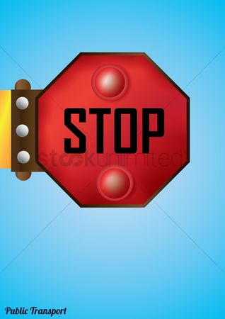Public safety : Stop sign board poster