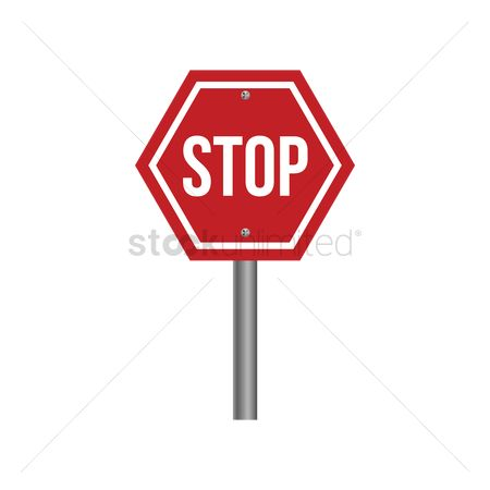 Caution : Stop sign