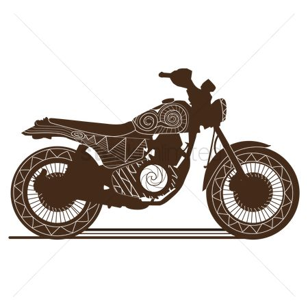 Wheel : Stylized motorbike design