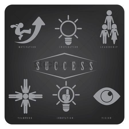 Entrepreneur : Success icons