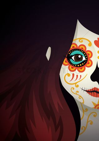 Traditions : Sugar skull girl