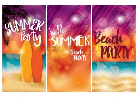 Surfboards : Summer beach party