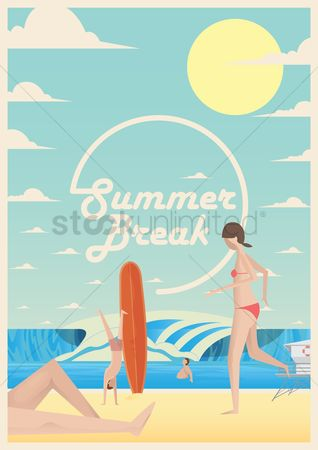 Swimsuit : Summer break poster