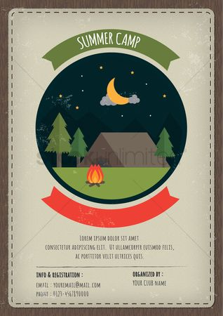 Copy spaces : Summer camp poster
