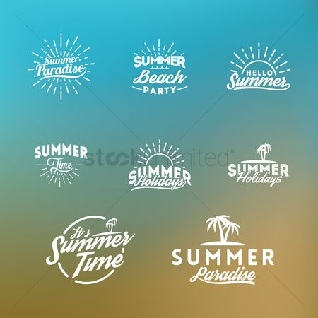 Summer : Summer holiday lettering collection