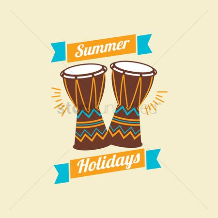 Drums : Summer holidays design