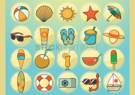 Sail : Summer vacation vectors