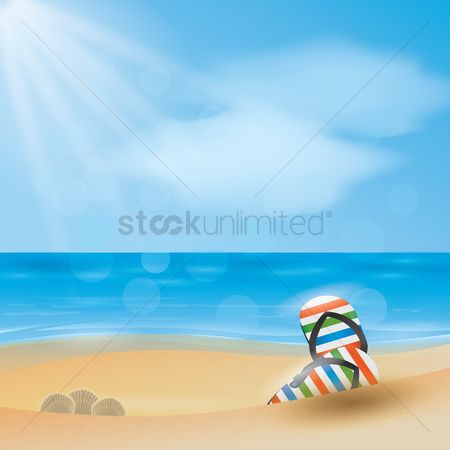 Slippers : Sunny day by the beach