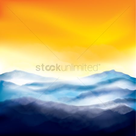 Mountains : Sunrise at snowy mountains
