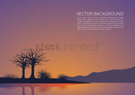 Lorem ipsum : Sunset background
