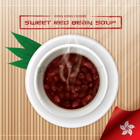 Confection : Sweet red bean soup