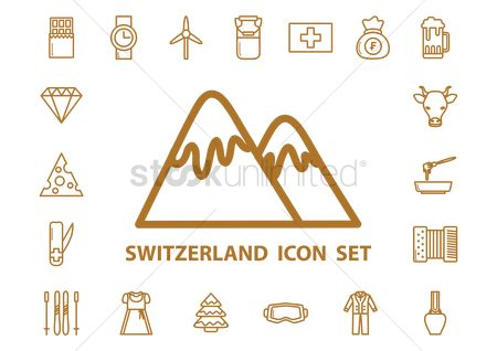 Traditions : Switzerland icons