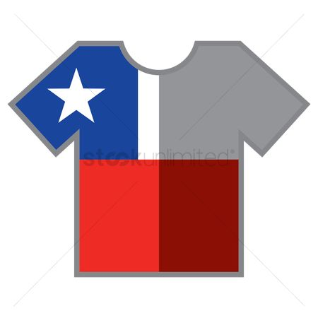 Tshirt design : T-shirts with chile flag design