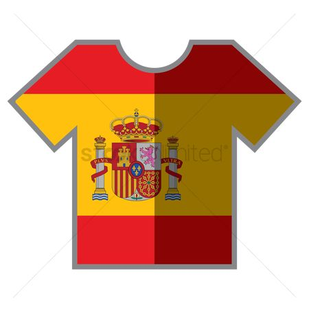 Tshirt design : T-shirts with spain flag design