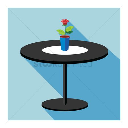 Interior : Table with a flower