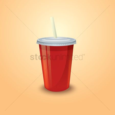Take away cup : Takeaway cup with straw