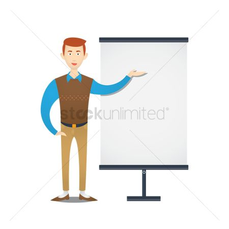 Whiteboard : Teacher standing at whiteboard