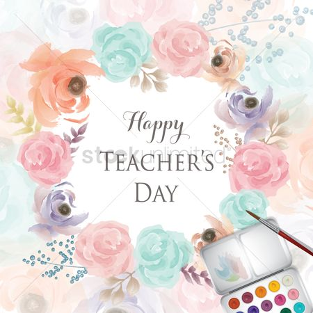 Teacher : Teachers day greeting design