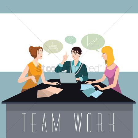 Ideas : Team brainstorming an idea