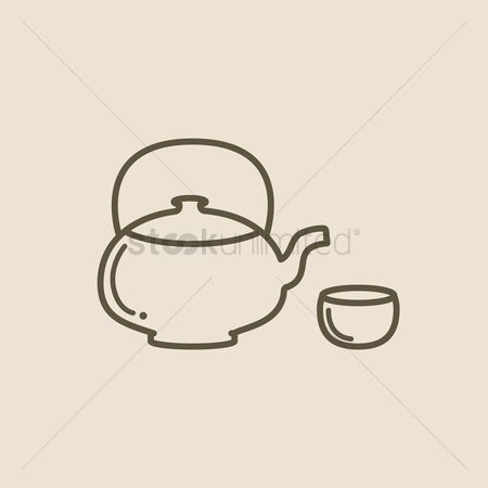 Crockery : Teapot and cup