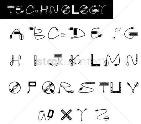 Fonts : Technology font