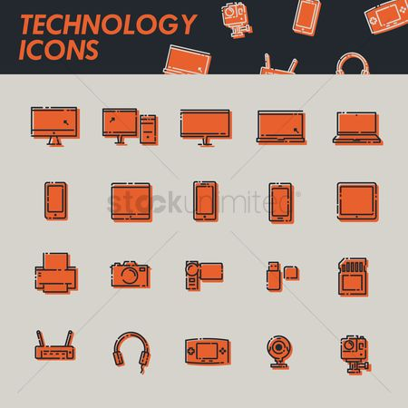 Pendrive : Technology icons