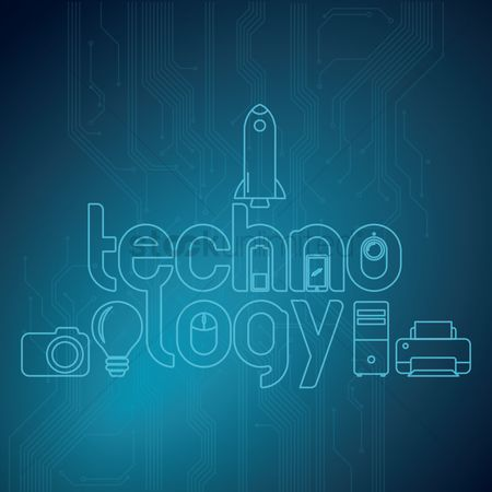 Pendrive : Technology lettering design