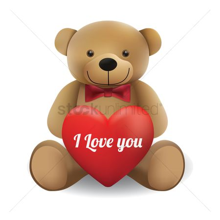 Teddybear : Teddy bear with heart