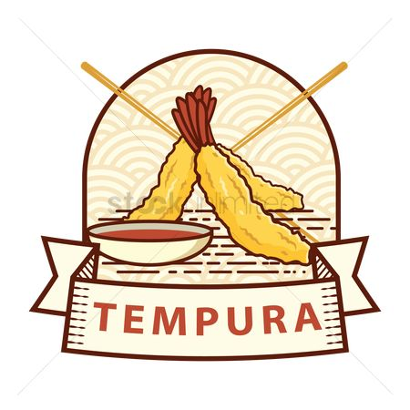 Japanese cuisines : Tempura label