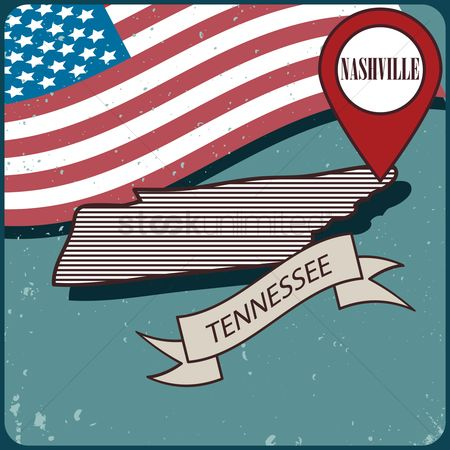 Tennesse : Tennessee map label