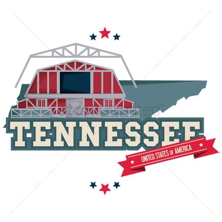 Tennessee : Tennessee map with grand ole opry