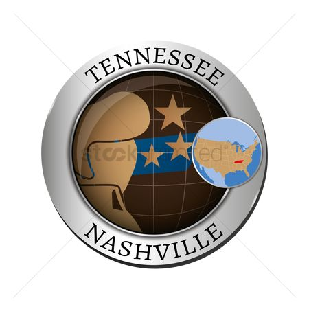 Tennessee : Tennessee state with elvis presley badge