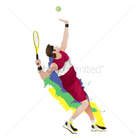 Racket : Tennis player playing a game