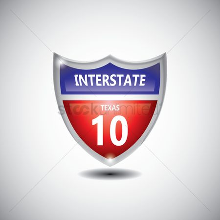 Interstates : Texas 10 route sign
