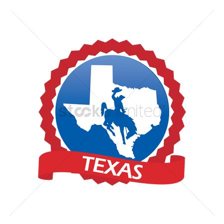Cowboys : Texas state map
