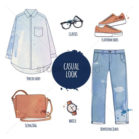 Fashions : The casual look fashion set