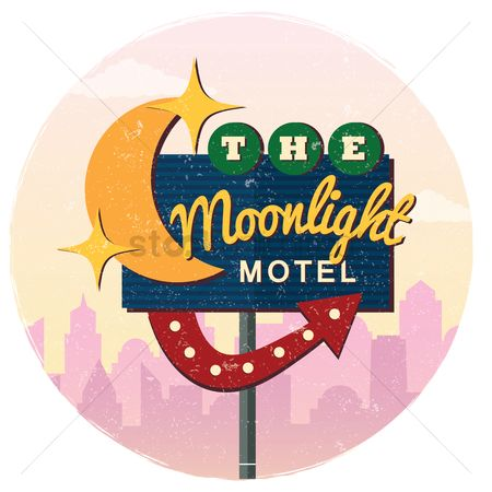 Old fashioned : The moonlight motel background